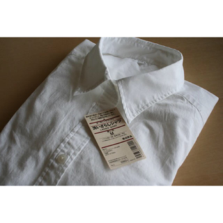MUJI (無印良品) - 無印良品 ワイシャツ無地白