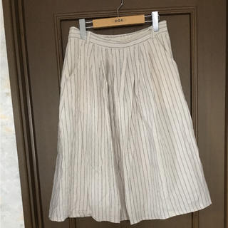 ハートマーケット(Heart Market)のハートマーケット♥綿麻ストライプスカート  L(ひざ丈スカート)