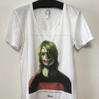 グラム(glamb)のglamb Tシャツ カートコバーン 白 サイズ1(Tシャツ/カットソー(半袖/袖なし))