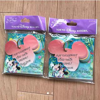 ディズニー(Disney)の【2点セット】七夕 短冊 メッセージカード(カード/レター/ラッピング)