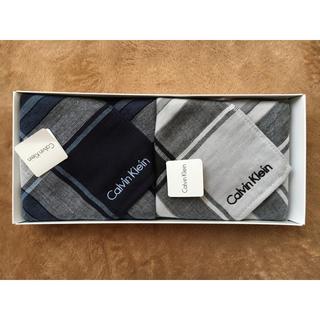 カルバンクライン(Calvin Klein)のカルバンクライン タオルハンカチ 2枚(ハンカチ/ポケットチーフ)