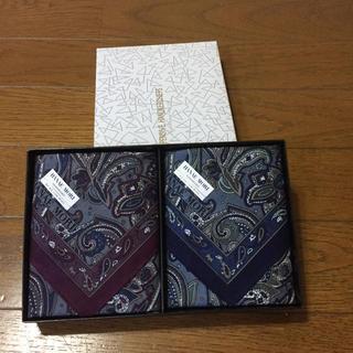 ハナエモリ(HANAE MORI)のメンズハンカチ2枚組(ハンカチ/ポケットチーフ)