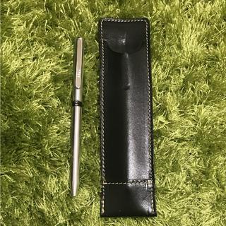 ダックス(DAKS)のDAKS 2色ボールペン 本革ペンケース付き(ペン/マーカー)