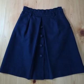 トゥエルブアジェンダ(12Twelve Agenda)の膝丈スカート ブラック M(ひざ丈スカート)