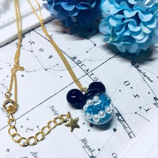 Disney - 【35周年イメージ】 ディズニー ミッキー ガラスドームネックレス