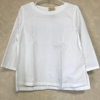 MUJI (無印良品) - 《新品》無印良品 七分袖 コットンブラウス 白