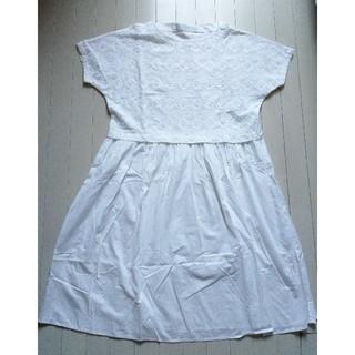 ネストローブ(nest Robe)のミディウミ MidiUmi●コットン ロングワンピース 白 M~L●日本製 美品(ロングワンピース/マキシワンピース)