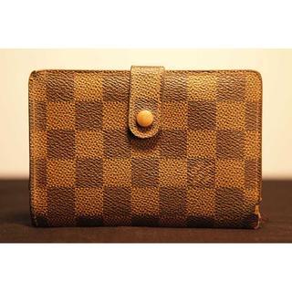 ルイヴィトン(LOUIS VUITTON)の本物 ルイ ヴィトン ダミエ エベヌ がま口 二つ折り財布 正規品(財布)