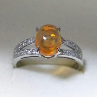 プラチナ オパール ダイヤ リング(リング(指輪))