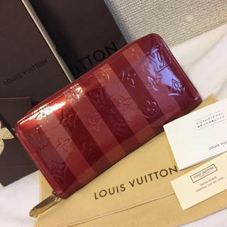 ルイヴィトン(LOUIS VUITTON)の上美品!ルイヴィトン ポルトフォイユ・サラ ヴェルニ ジッピーウォレット(財布)