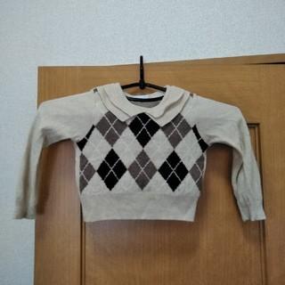 ベベ(BeBe)のべべ 女の子 薄手セーター サイズ100(ニット)