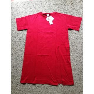 エージーバイアクアガール(AG by aquagirl)のドロップショルダースリット入りロング丈Tシ(Tシャツ(半袖/袖なし))