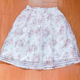 しまむら - しまむら♡オーガンジースカート♡花柄