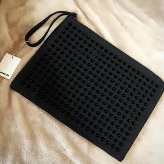 ザラ(ZARA)の新品未使用 アダムパテック スタッズ クラッチバッグ ブラック(セカンドバッグ/クラッチバッグ)