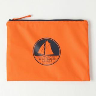 プチバトー(PETIT BATEAU)の【入手困難・完全完売色】petit bateau オレンジ ユニセックス(セカンドバッグ/クラッチバッグ)