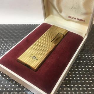 ロンシャン LONGCHAMP ガスライター ゴールド色 ケース付 美品