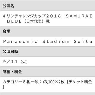 キリンカップ チケット ホーム自由席 x2(サッカー)