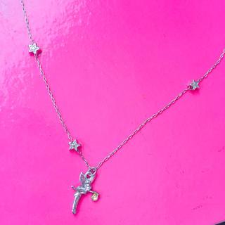 ディズニー(Disney)のネックレス ディズニー ティンカーベル ピーターパン スター 星 シルバー(ネックレス)