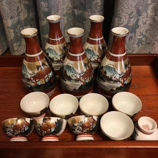 クタニセイヨウ(九谷青窯)の九谷焼 とっくり、おちょこセット(陶芸)