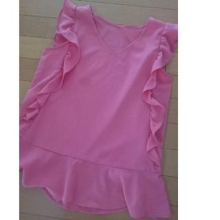 エージーバイアクアガール(AG by aquagirl)のフリルカットソー(シャツ/ブラウス(半袖/袖なし))