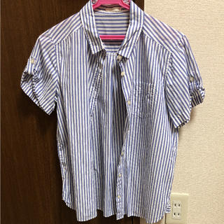 ジーユー(GU)のジーユー ストライプシャツ(シャツ/ブラウス(半袖/袖なし))