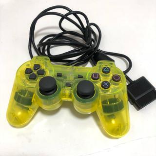 プレイステーション(PlayStation)の中古品 プレイステーション コントローラー クリアイエロー(家庭用ゲーム本体)