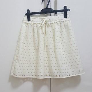 アクアガール(aquagirl)の美品☆アクアガール ふんわり フレアー スカート M(ひざ丈スカート)