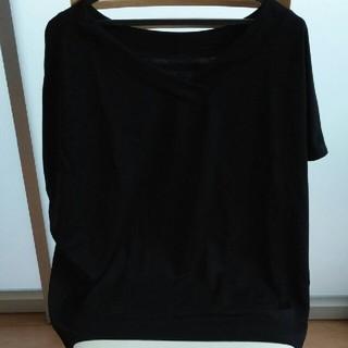 シマムラ(しまむら)の2WAYカットソー 黒(カットソー(半袖/袖なし))