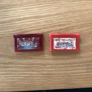 ゲームボーイアドバンス(ゲームボーイアドバンス)のポケットモンスター ルビー ファイアレッド(赤)(携帯用ゲーム機本体)