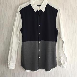 レイジブルー(RAGEBLUE)の素材切り替えシャツ(シャツ)