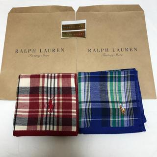 ラルフローレン(Ralph Lauren)の新品 ラルフローレン ガーゼタオル ハンカチ セット ポロ(ハンカチ/ポケットチーフ)