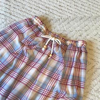 タマスクレセント(Tamath crescent)のチェック ロングスカート ピンク(ロングスカート)