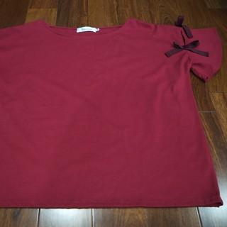クチュールブローチ(Couture Brooch)のリボンつきTシャツ(Couture Brooch)(Tシャツ(半袖/袖なし))
