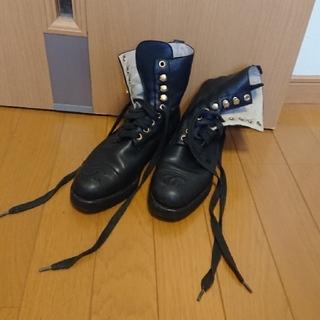 シャネル(CHANEL)のCHANEL 編み上げブーツ 35ハーフ(ブーツ)