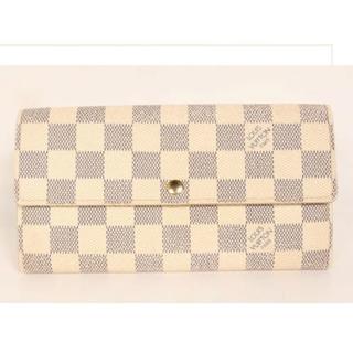 ルイヴィトン(LOUIS VUITTON)の美品 ルイヴィトン 長財布  ダミエアズールポルトフォイユサラ(財布)