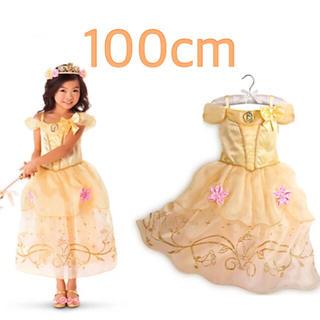 100cm♡イエロー♡ワンピース♡プリンセスドレス♡(ワンピース)
