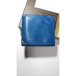 ルイヴィトン(LOUIS VUITTON)の★ルイヴィトン エピブルー 折財布★(折り財布)