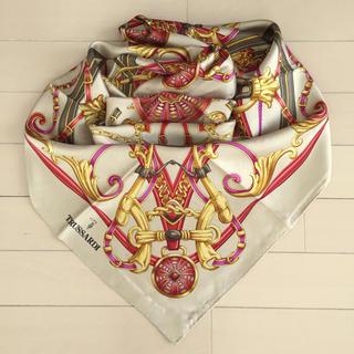 トラサルディ(Trussardi)のトラサルディ TRUSSARDI 古典柄大判スカーフ(バンダナ/スカーフ)