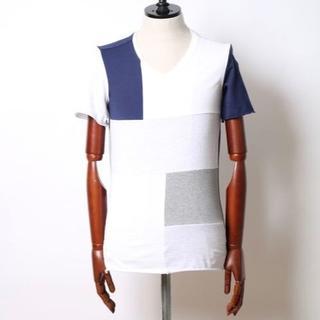 ダブルジェーケー(wjk)の定価10800円 wjk パッチワークTシャツ AKMジュンハシモト(シャツ)