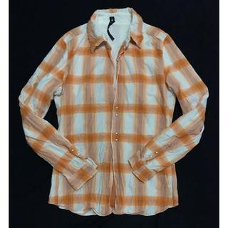 ダブルジェーケー(wjk)の定価34560円 wjk シワ加工チェックフックドレスシャツ AKM(シャツ)