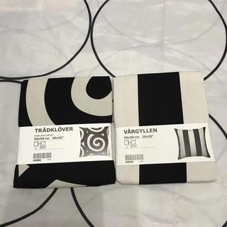 イケア(IKEA)のIKEAクッションカバーボーダー1枚(クッション)
