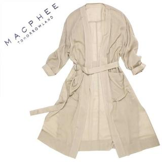 マカフィー(MACPHEE)のMACPHEE シャツコート ガウン 定価28,080円 size38 ベージュ(ガウンコート)