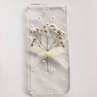 ハンドメイド かすみ草 iphoneケース