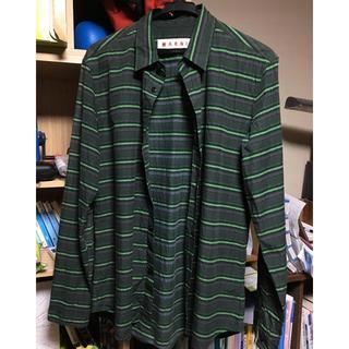 マルニ(Marni)のMARNI グリーン ストライプのシャツ(シャツ)