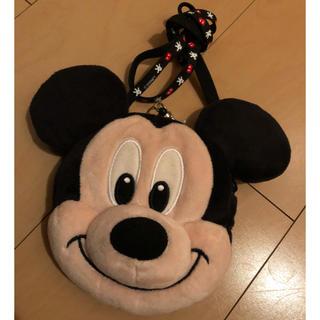 ディズニー(Disney)のリールが伸びる パスケース ミッキー フェイス型(キャラクターグッズ)