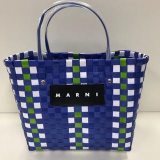 マルニ(Marni)のMARNI マルニ ピクニックバッグ かごバッグ ブルー(かごバッグ/ストローバッグ)