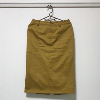 アズール(AZZURE)のAZUL ENCANTO マスタード色のひざ下スカート Mサイズ(ひざ丈スカート)