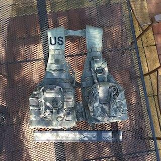 米軍実物ACU改良型MOLLEベスト ポーチ ベルト(その他)