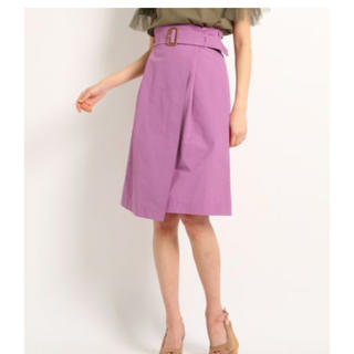 エージーバイアクアガール(AG by aquagirl)のAG by aquagirl 洗えるベスト付スカート ラベンダー色(ひざ丈スカート)