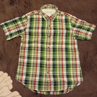 グローバルワーク(GLOBAL WORK)のGLOBRL WORK メンズ チェック シャツ L(Tシャツ/カットソー(半袖/袖なし))